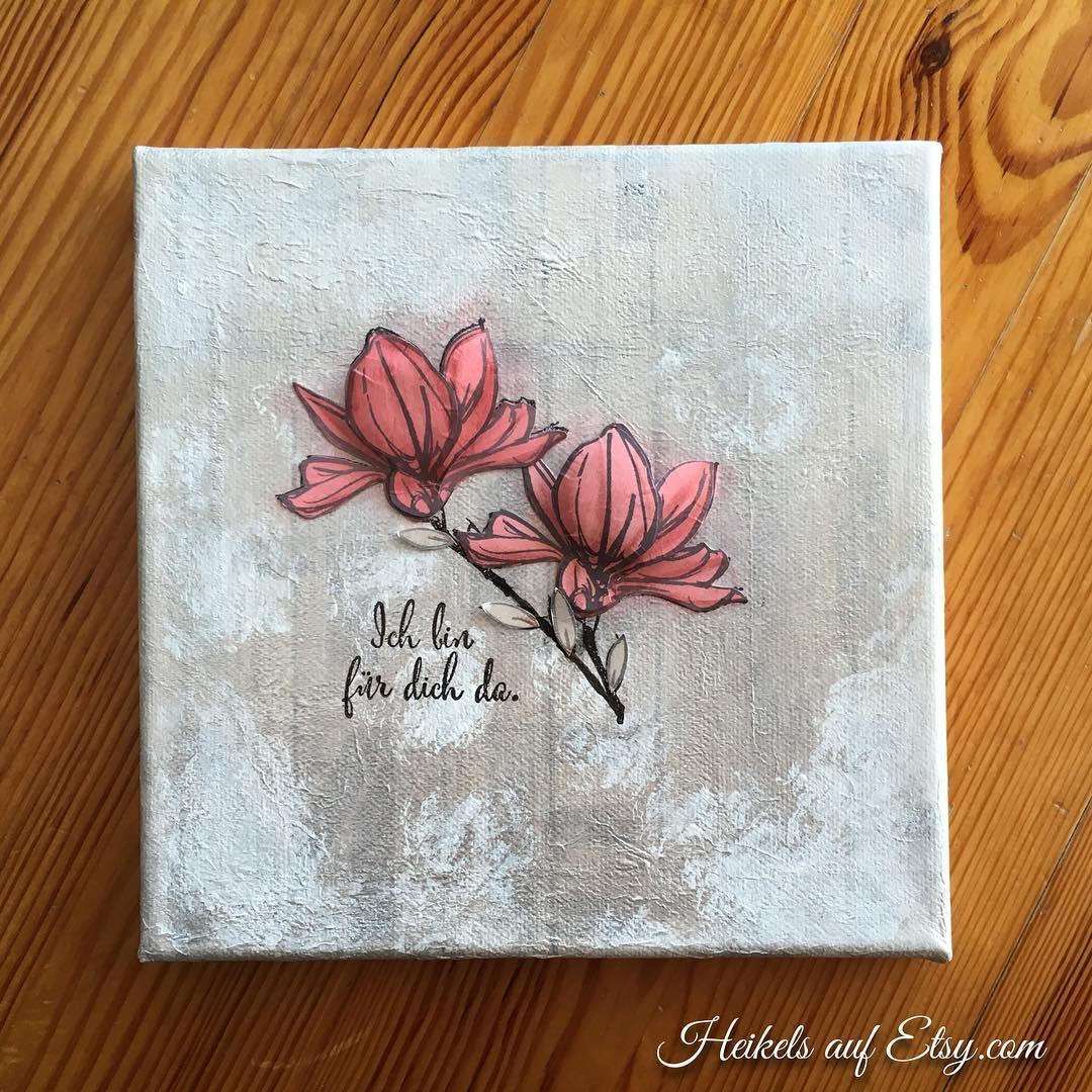 Mixed Media Canvas mit Remarkable You heikeskartenwerkstatt stampinup heikelsonetsy Weiterlesenhellip