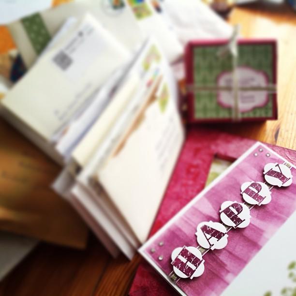 So viel Geburtstags-Candy-Post, DANKE - Verlosung erfolgt bald!
