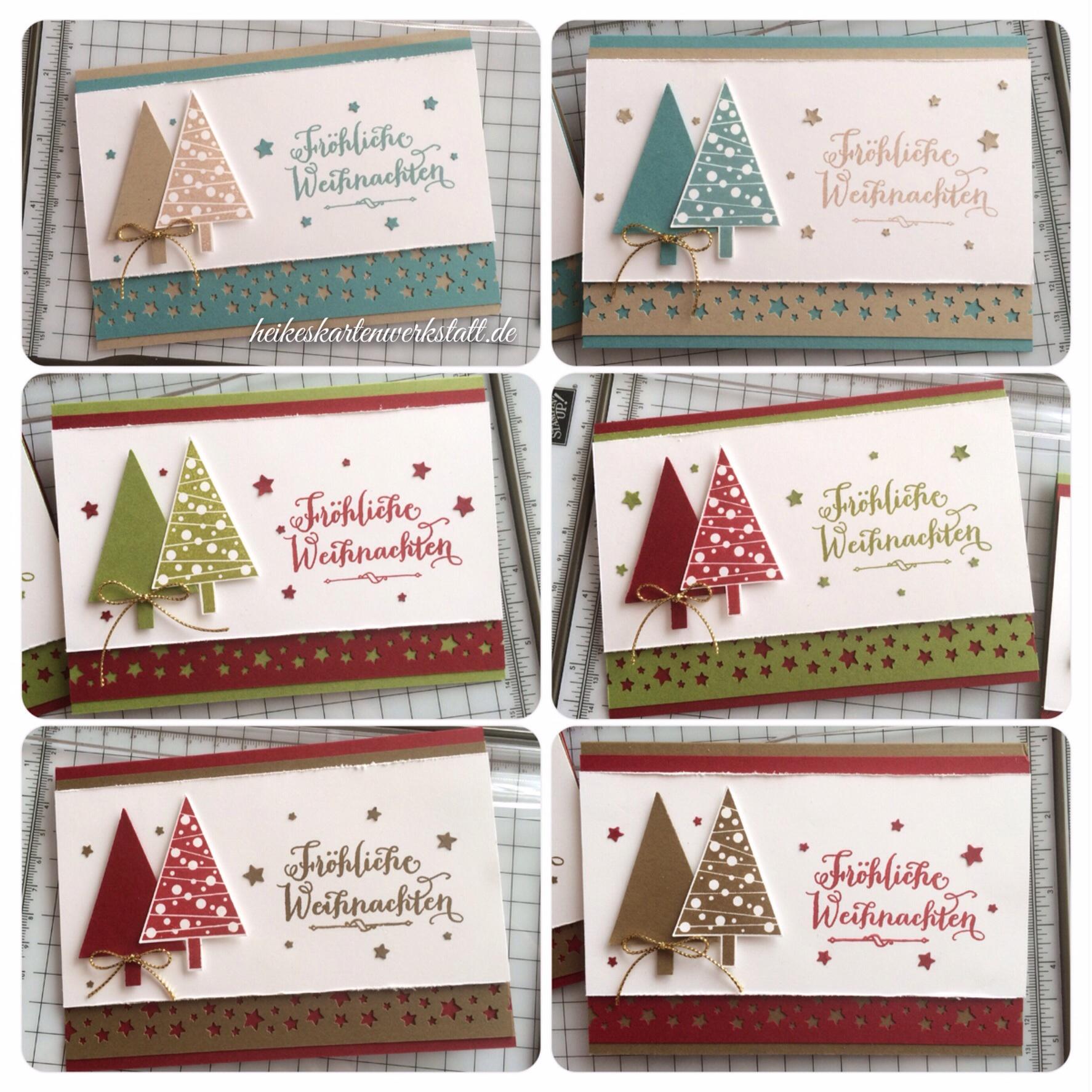 weihnachtskarten mit dem christbaumfestival set heikes kartenwerkstattheikes kartenwerkstatt. Black Bedroom Furniture Sets. Home Design Ideas