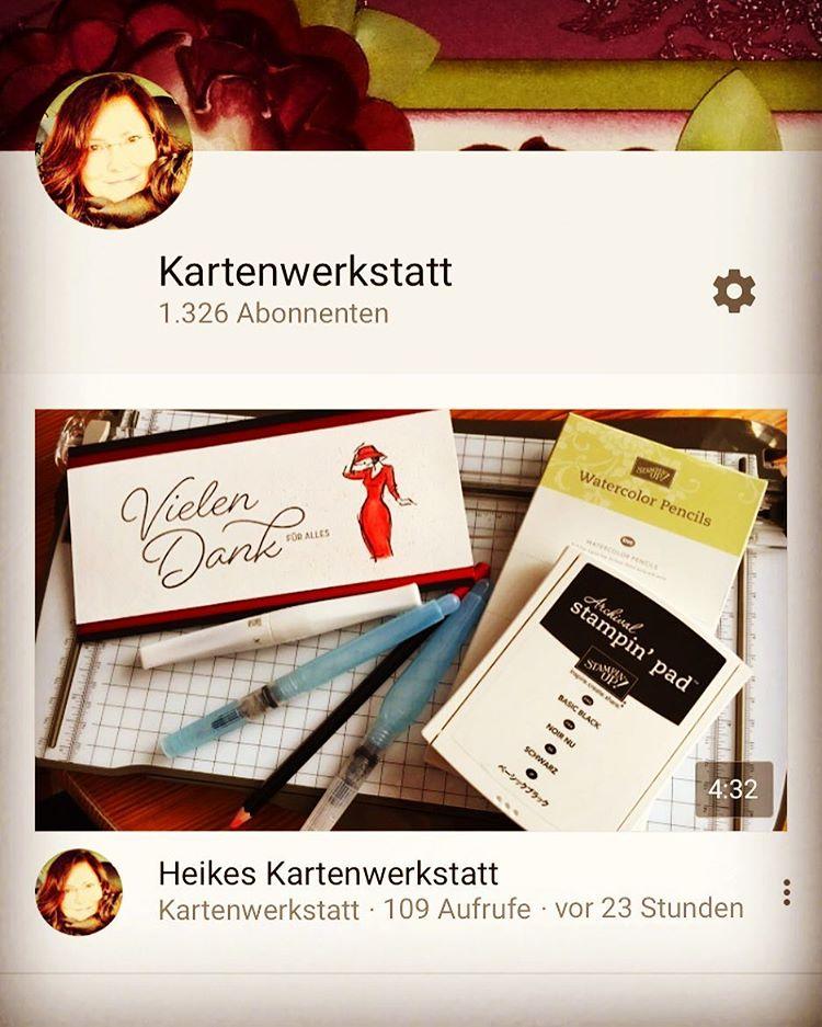 neuesvideo auf meinem youtube KartenwerkstattKanal zum Thema aquarell aquarellstifte watercolorpencilhellip