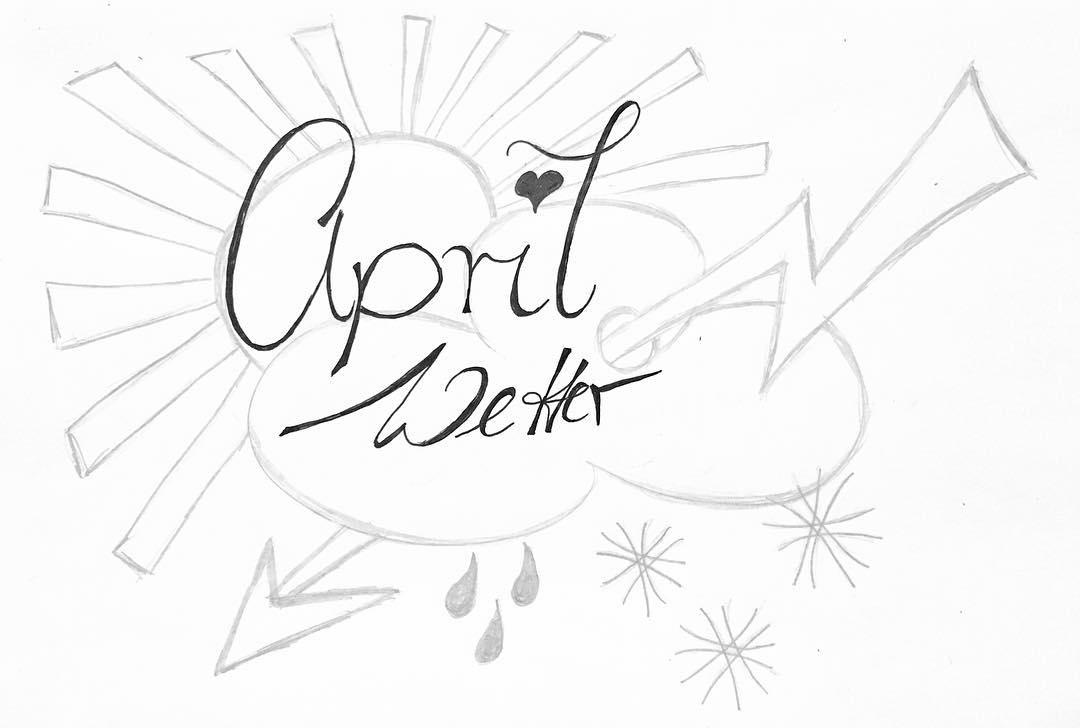 Ich be noch handlettering aprilwetter handschrift Weiterlesen rarr