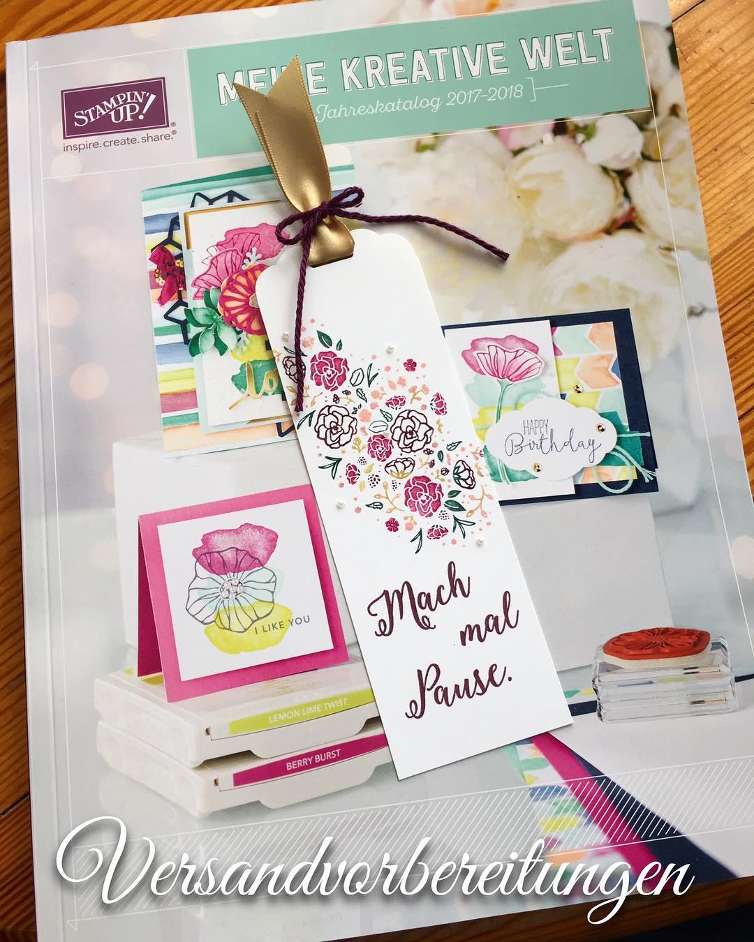 versandvorbereitungen katalogversand stampinup Bestellen bei heikeskartenwerkstatt linkinbio Weiterlesen rarr