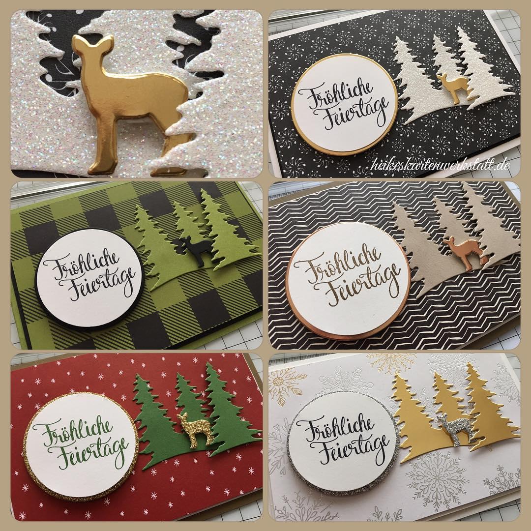 Einfach und ohne Schnickschnack schnelle Weihnachtskarten produzieren linkinbio stempelnddurchsjahr heikeskartenwerkstatthellip
